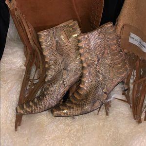 Stuart Weitzman Snakeskin Leather Boots/Booties